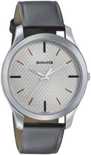 Sonata 77063SL04 Analog Black Dial Men's Watch