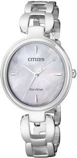 Citizen EM0420-89D Analog Mother Of Pearl Dial Women's Watch (EM0420-89D)