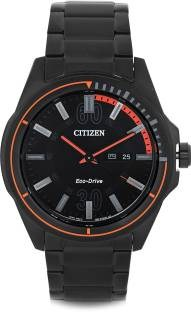 Citizen Eco-Drive AW0035-51E Analog Black Dial Men's Watch (AW0035-51E)