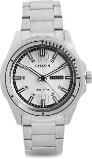Citizen Eco-Drive AW0030-55A Analog White Dial Men's Watch (AW0030-55A)