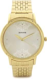 Sonata 77031YM02CJ Analog White Dial men's Watch