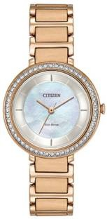 Citizen EM0483-54D Analog White Dial Women's Watch (EM0483-54D)