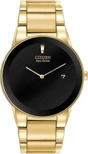 Citizen Eco-Drive AU1062-56E Analog Black Dial Men's Watch (AU1062-56E)