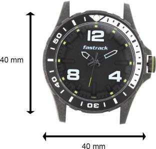 Fastrack 38036PP02J Analog Black Dial Unisex Watch (38036PP02J)