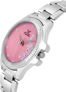 Fogg 4044-PK Analog Pink Dial Women's Watch