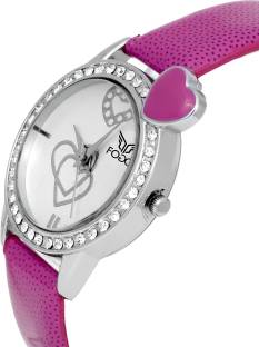 Fogg 3050-PR Analog White Dial Women's Watch