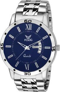 Fogg 5038-BL Analog White & Blue Dial Combo Men's Watch (5038-BL)