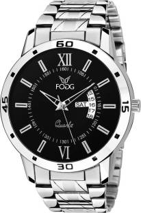 Fogg 2047-BK Analog Black Day and Date Men's Watch (2047-BK)