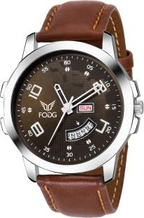 Fogg 1144-BR Analog Brown Day and Date Men's Watch (1144-BR)