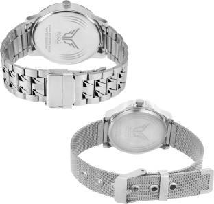 Fogg 5070-BL Analog Blue Dial Couple Watch (5070-BL)