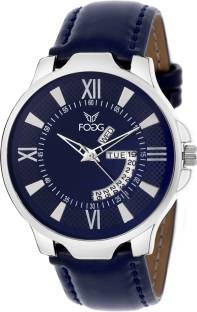 Fogg 1134-BL Analog Blue Day and Date Dial Men's Watch