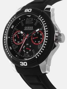 Guess W0967G1 Tread Black Dial Analog Men's Watch (W0967G1)