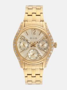 Guess W1020L2 Gold Dial Multi Function Women's Watch (W1020L2)