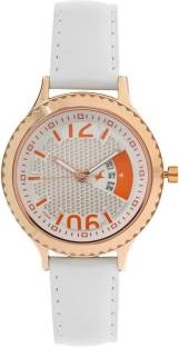 Fastrack 6168WL01 Loopholes Analog Silver Dial Women's Watch (6168WL01)
