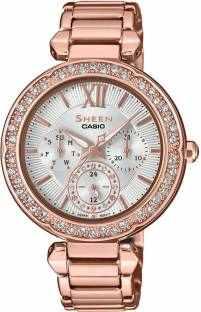 Casio Sheen SHE-3061PG-7AUDR (SX211) Analog Silver Dial Women's Watch (SHE-3061PG-7AUDR (SX211))