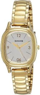 Sonata 8060YM01 Professional Analog Silver Dial Women's Watch