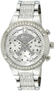 Guess W0850L1 Silver-Toned Analog Women's Watch