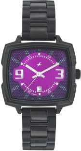 Fastrack 6167NM01 Loopholes Analog Silver Dial Women's Watch (6167NM01)