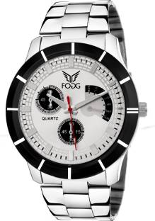 Fogg 2041-WH Analog Silver Chrono Dummy Dial Men's Watch (2041-WH)