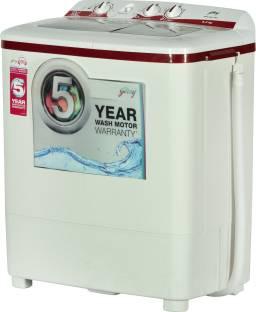 Godrej GWS 6204 PPD 6.2 KG Top Load Semi-Automatic Washing Machine, White & Red