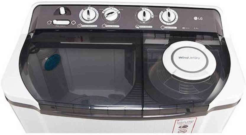 LG 8Kg Semi Automatic Top Loading Washing Machine Dark Grey (P9039R3SM, Dark Grey)