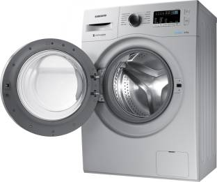 Samsung 6Kg Front Load Fully Automatic Washing Machine Silver (WW60M204K0S/TL, Silver)