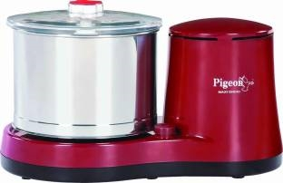 Pigeon Maxi Grind Wet 500 W Mixer Grinder Red, (1 Jar)