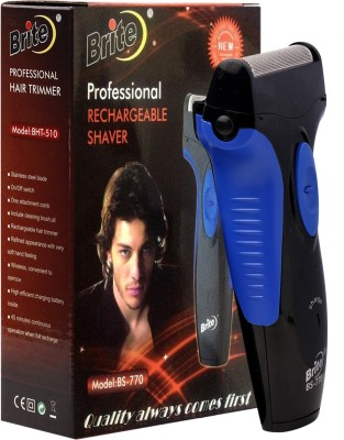 Brite Bs770 Professional Rechargable Shaver Blue