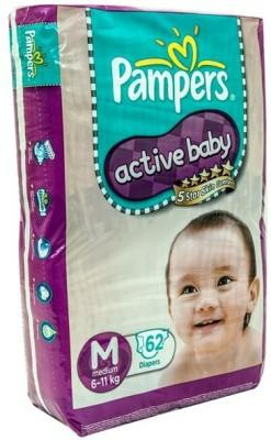 Pampers Active M Diapers (62 Pieces)