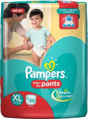 Pampers Pant Baby Diapers, XL 20 Pieces