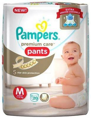 Pampers Premium Care Pants Baby Diapers, M 20 Pieces