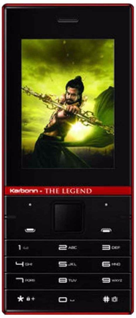Karbonn Kochadaiiyaan The Legend 2.4 Black-Red Mobile