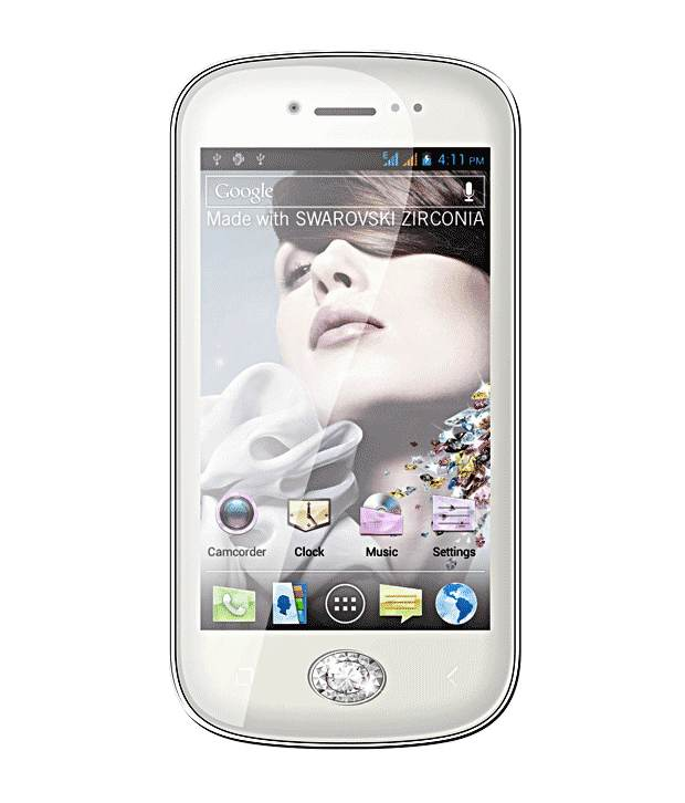 Micromax Bling 3 A86 4 GB White Mobile