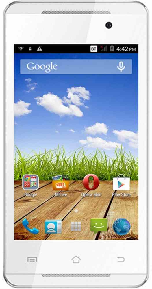 Micromax Canvas Fire A093 (Micromax A093) 4GB Gold White Mobile
