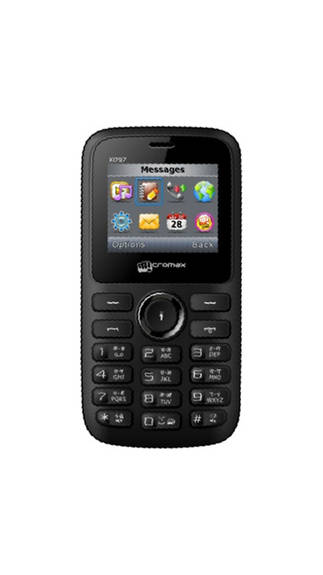 Micromax X097 128MB Black Mobile