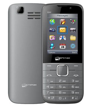 Micromax X242 Grey Mobile