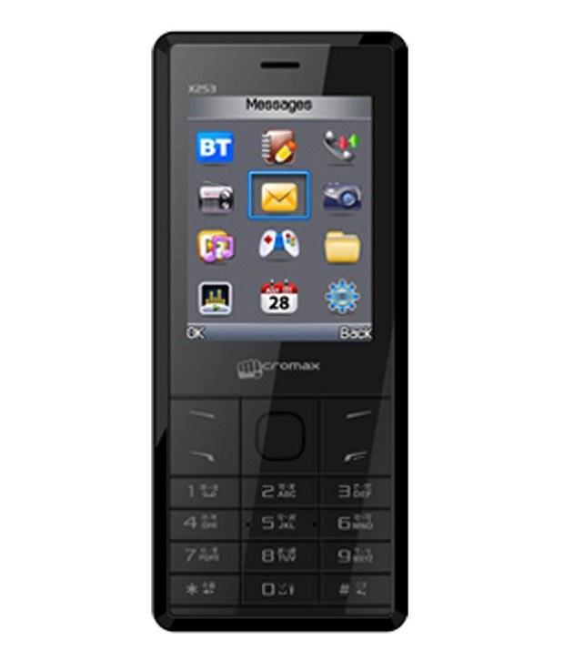 Micromax X253 128MB Black Mobile
