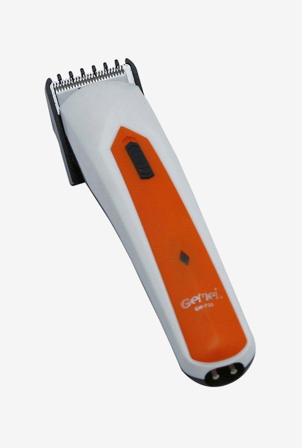Gemei GM-735-T Beard & Hair Trimmer  White & Orange