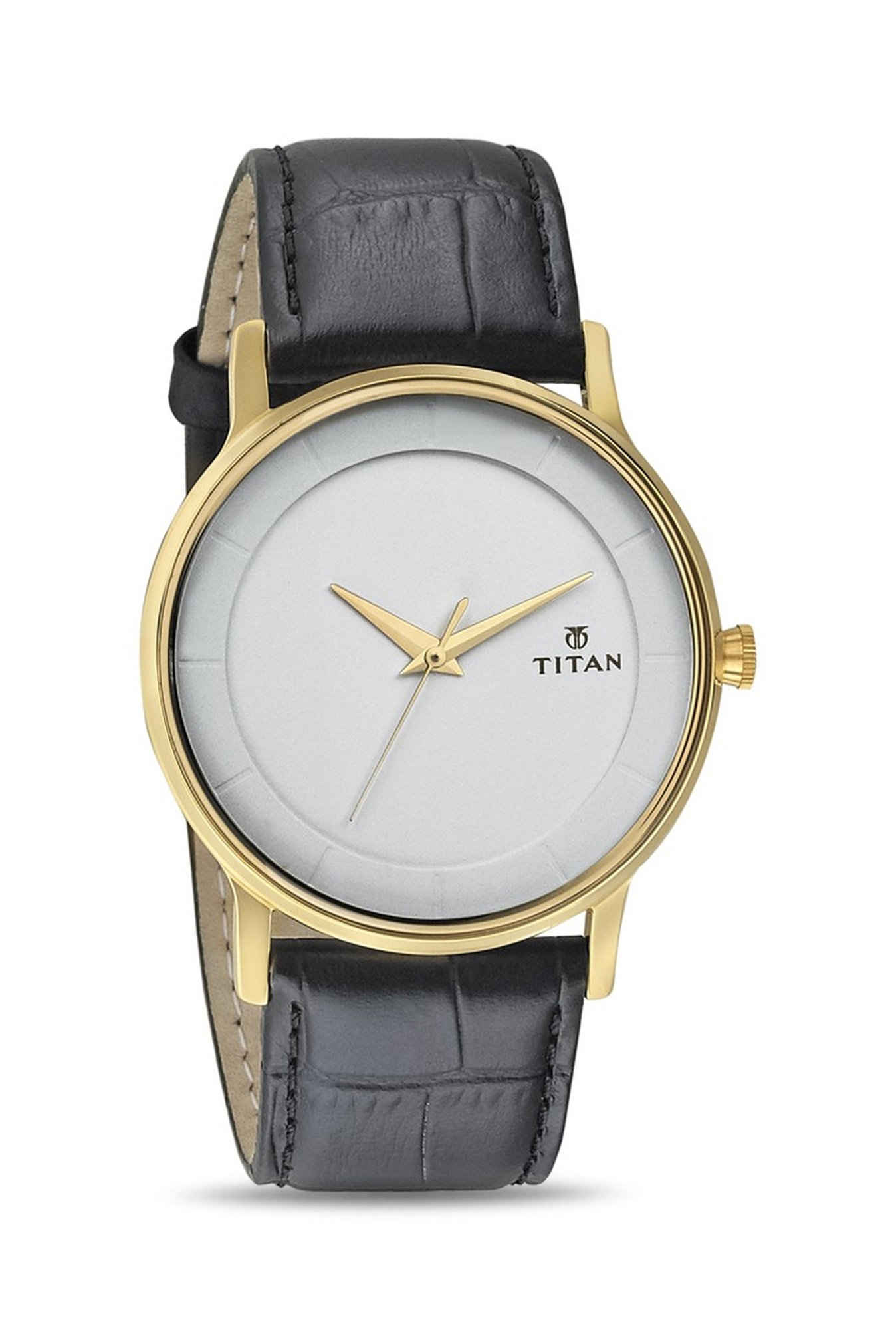 Titan Retro 1672YL01 Analog White Dial Men's Watch (1672YL01)