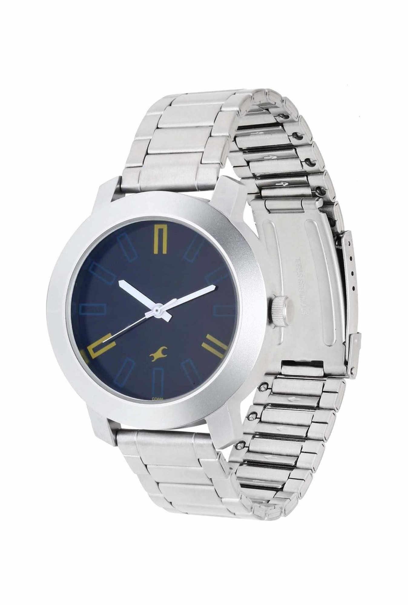 Fastrack NG3120SM02 Casual Analog Navy Blue Dial Men's Watch (NG3120SM02)