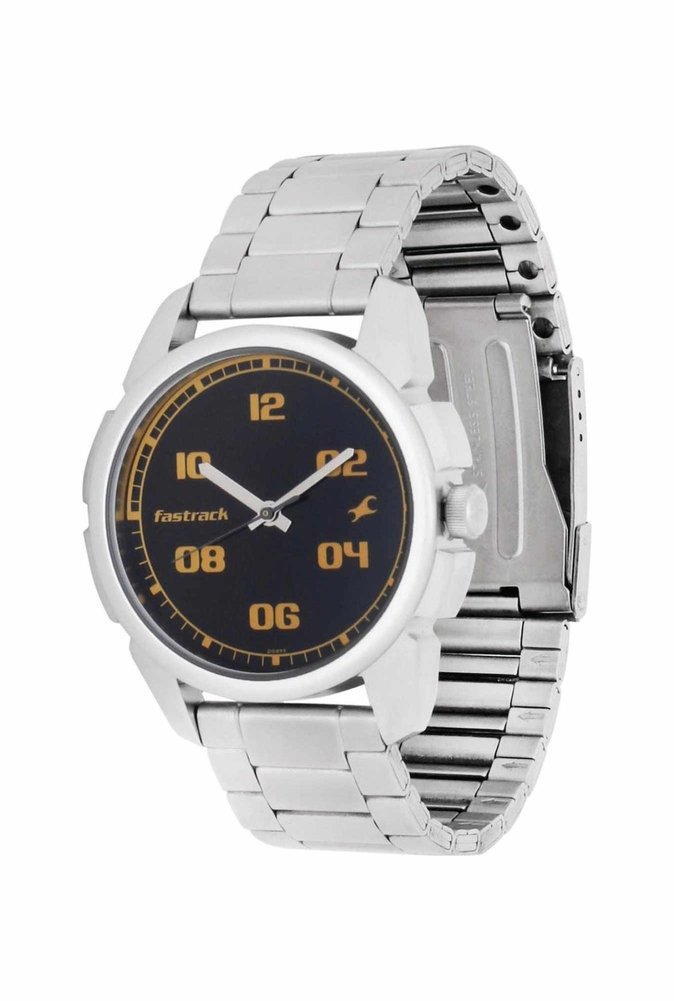 Fastrack 3124SM02 Casual Analog Black Dial Men's Watch (3124SM02)