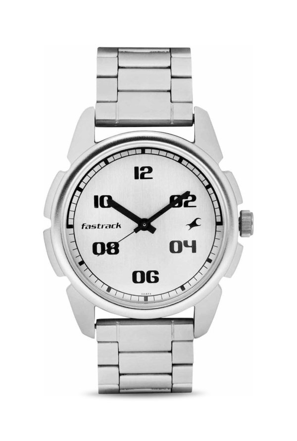49954b29540 Fastrack NG3124SM01 Watch Online Buy at lowest Price in India (Casual  Analog Silver Dial Men s Watch) Offers   Coupons