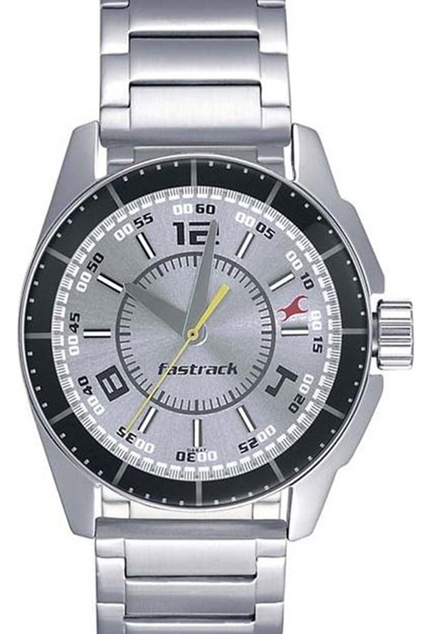 Fastrack 3089SM02 Charcoal Grey Dial Men's Watch (3089SM02)