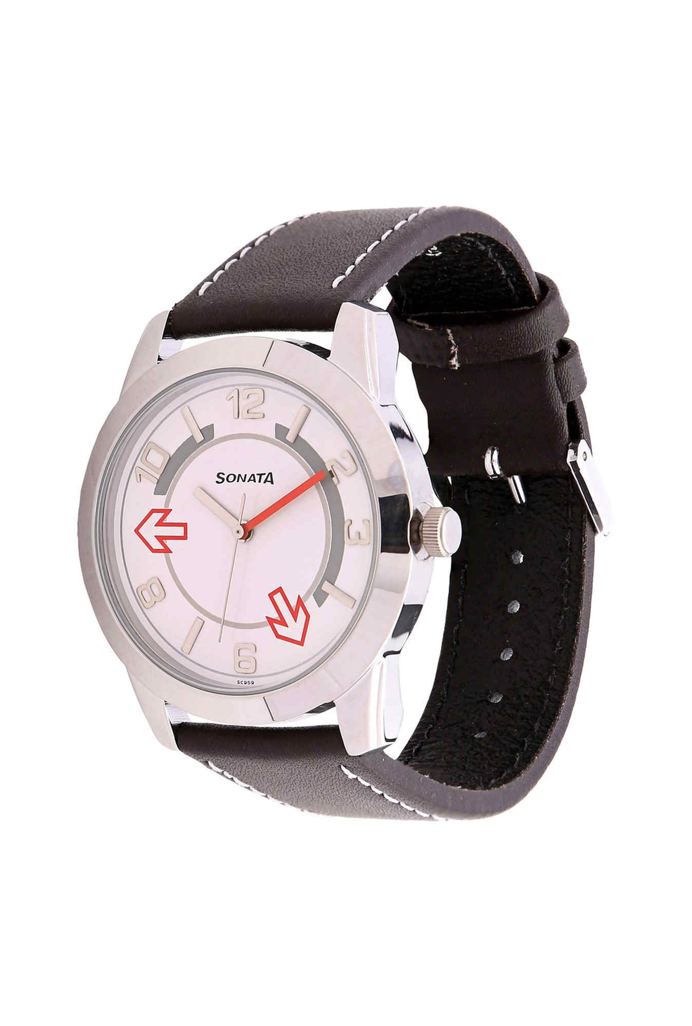 Sonata NH7924SL03C Yuva Analog White Dial Men's Watch (NH7924SL03C)