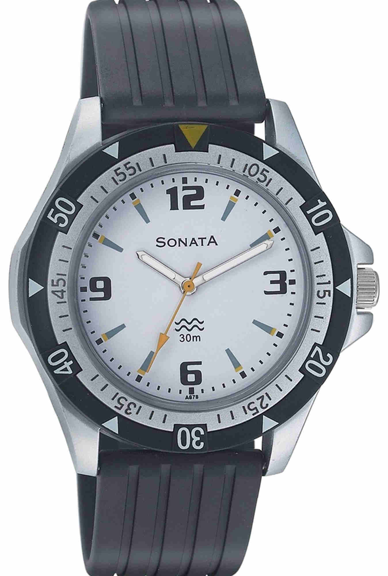 Sonata NH7930PP01CJ White Dial Analogue Men's Watch