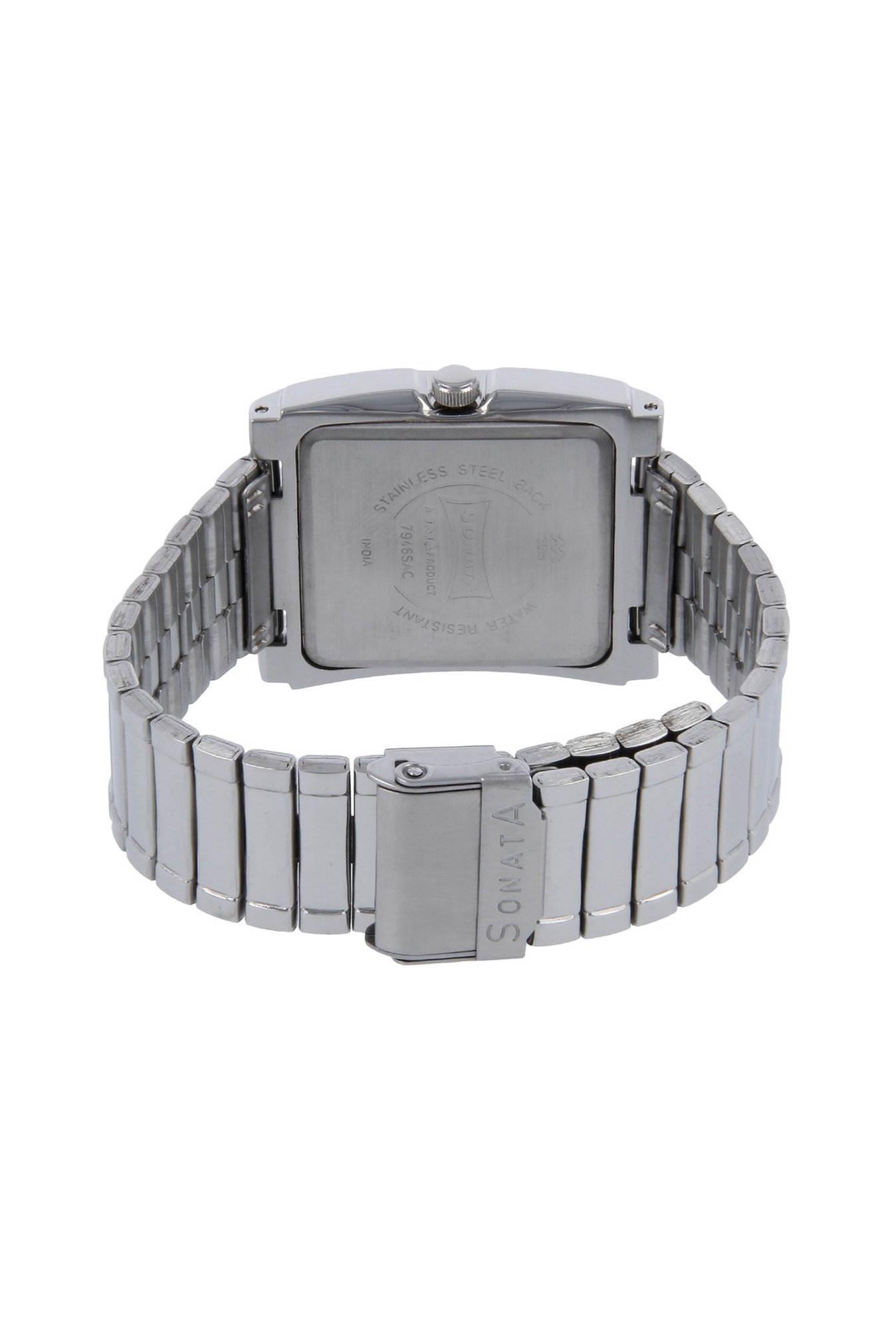 Sonata 7946SM01 Yuva Analog White Dial Men's Watch