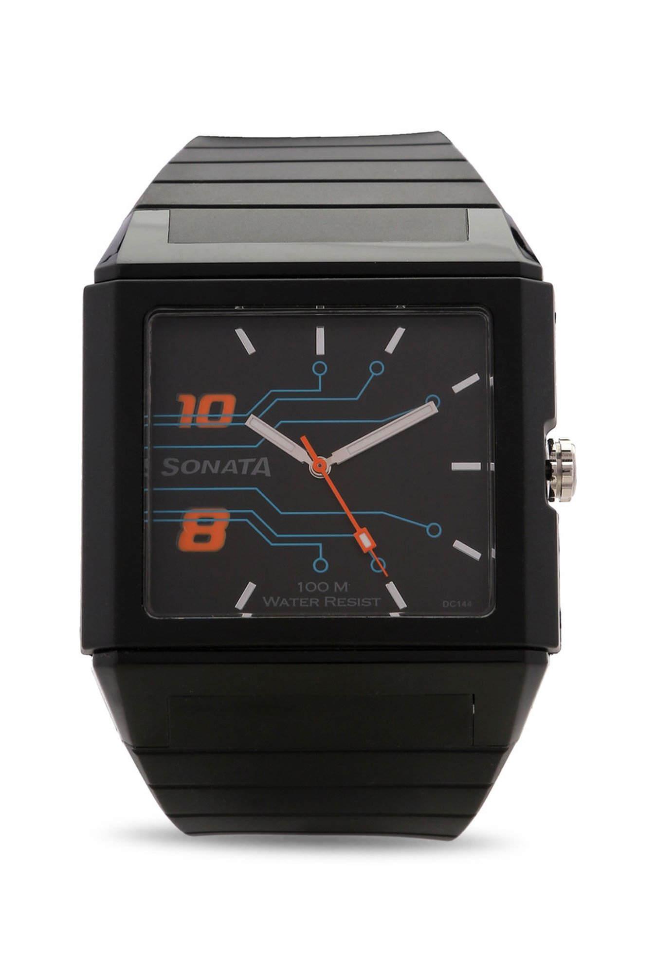 Sonata 7988PP02 Ocean Analog Black Dial Men's Watch