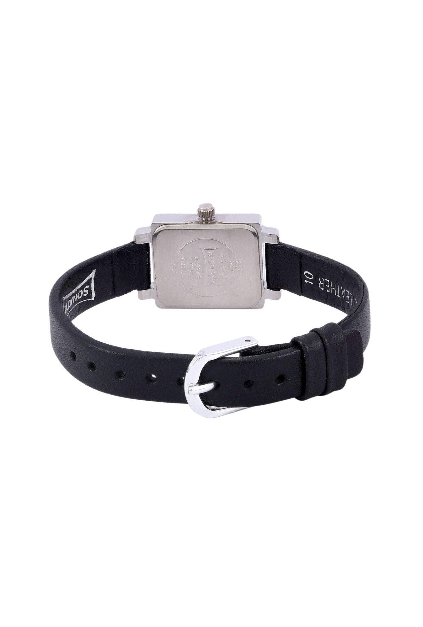 Sonata 8080SL01 Silver Analog White Dial Women's Watch (8080SL01)