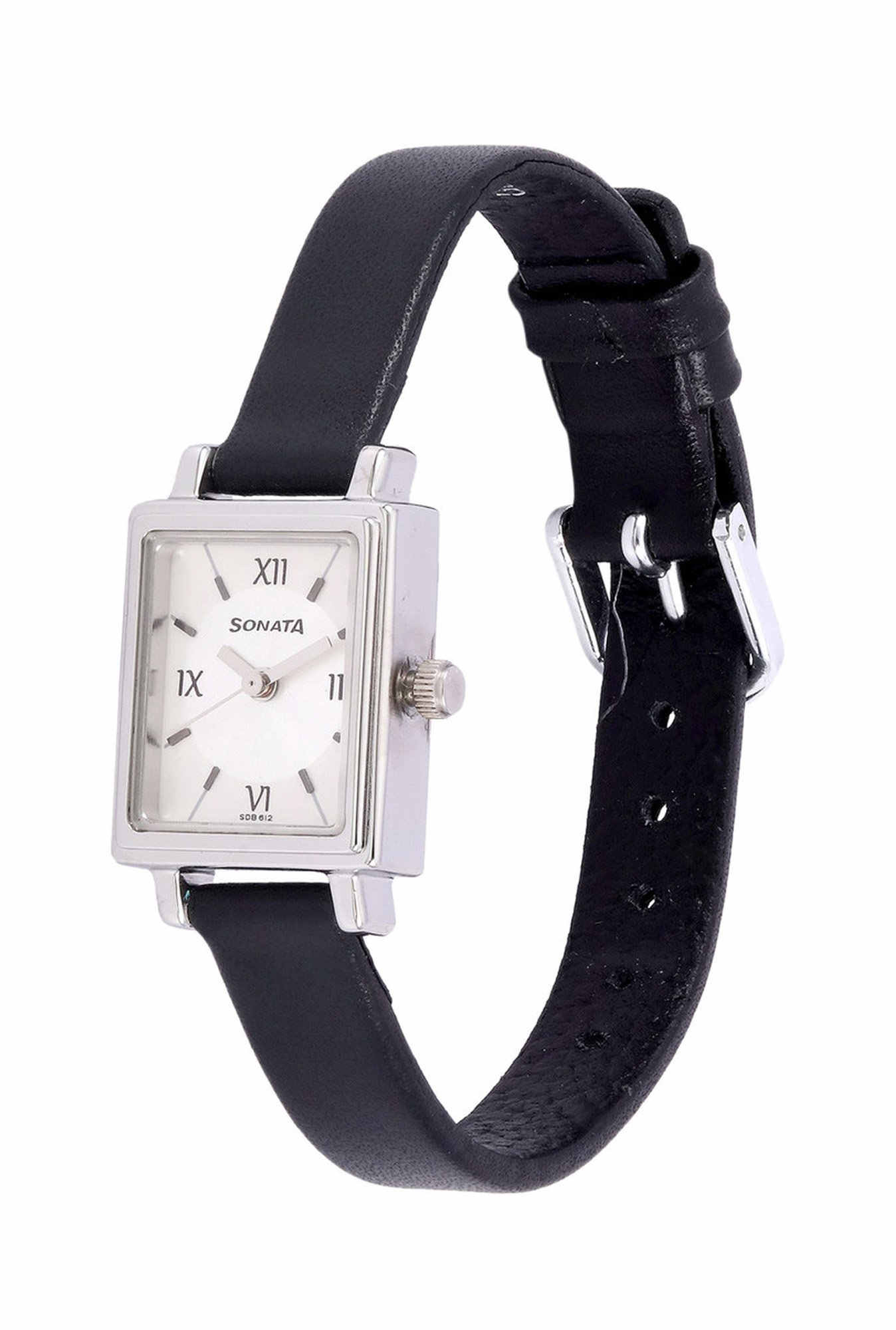 Sonata 8080SL01 Silver Analog White Dial Women's Watch (8080SL01)