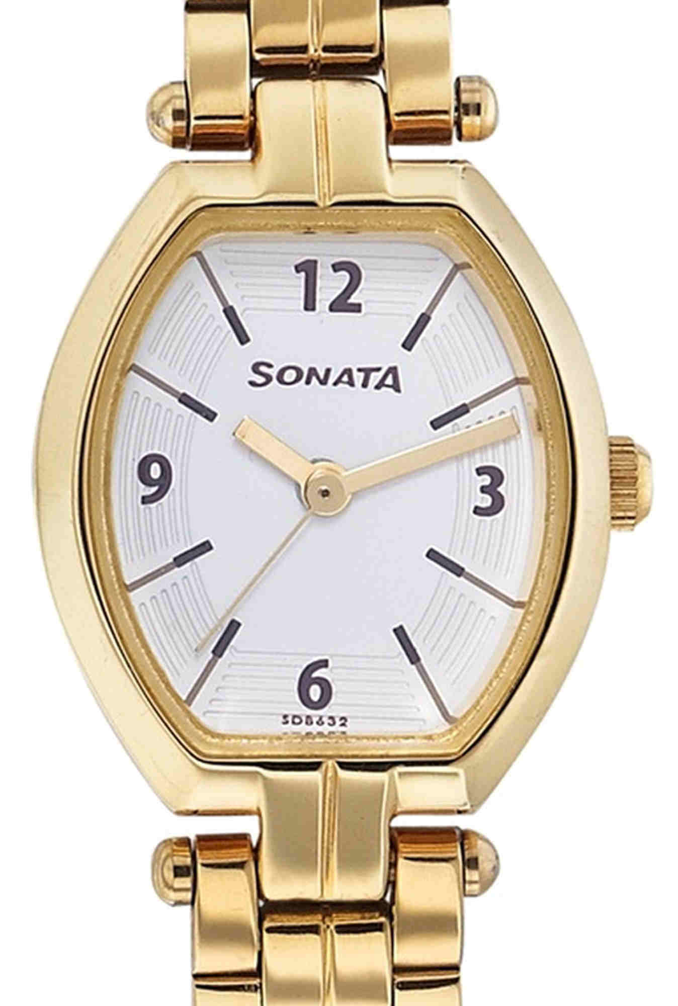 Sonata ND8083YM01C Analog White Dial Women's Watch